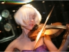 Ute Passionflower on her acoustic electric violin