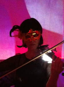 Mysterious electric violin performance by Ute Passionflower tonight on Supperclub cruise Amsterdam